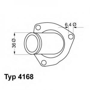 416892d wahler Термостат, охлаждающая жидкость OPEL ASTRA Наклонная задняя часть 1.8 i