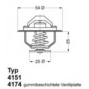 Термостат CITROEN/FIAT/IVECO/PEUGEOT Jumper,Ducato 417488d wahler -