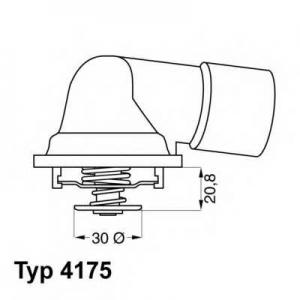 Термостат, охлаждающая жидкость 417592d wahler - OPEL VECTRA A Наклонная задняя часть (88_, 89_) Наклонная задняя часть 2.5 V6