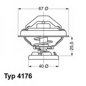 WAHLER 4176.80D Термостат MERCEDES-BENZ (пр-во Wahler)