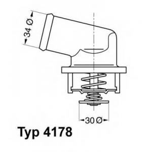 Термостат, охлаждающая жидкость 417892d wahler - OPEL VECTRA B Наклонная задняя часть (38_) Наклонная задняя часть 1.6 i 16V