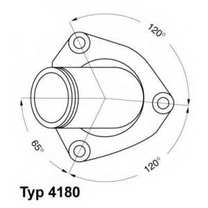 Термостат, охлаждающая жидкость 418082d wahler - DAEWOO ESPERO (KLEJ) седан 1.8