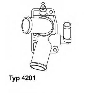 Термостат, охлаждающая жидкость 420192d wahler - OPEL VECTRA B (36_) седан 2.0 DTI 16V