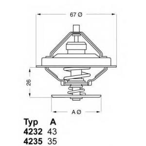 423280d wahler Термостат, охлаждающая жидкость BMW 3 седан 320/6