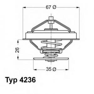 Термостат, охлаждающая жидкость 423688d wahler - BMW 3 (E30) седан 316 i