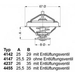 423780d wahler Термостат, охлаждающая жидкость BMW 3 седан 325 td