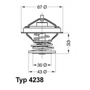 WAHLER 4238.92D Термостат BMW 3 5 E30 E36 E34 Z3