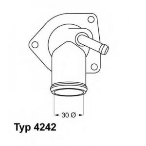Термостат, охлаждающая жидкость 424292d wahler - OPEL VECTRA B Наклонная задняя часть (38_) Наклонная задняя часть 1.6 i 16V