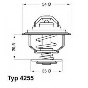 Термостат, охлаждающая жидкость 425587d wahler - OPEL ASCONA B (81_, 86_, 87_, 88_) седан 2.0 E