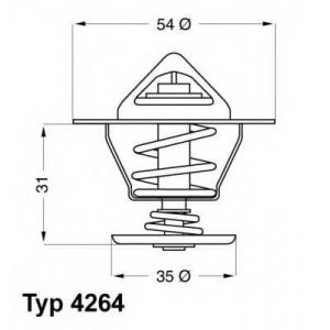 Термостат, охлаждающая жидкость 426487d wahler - AUDI 80 (80, 82, B1) седан 1.3