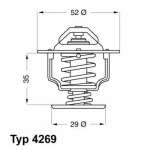WAHLER 4269.78D Термостат 78°C Honda Civic 1.2 83-87, 1.3,1.6i  87-