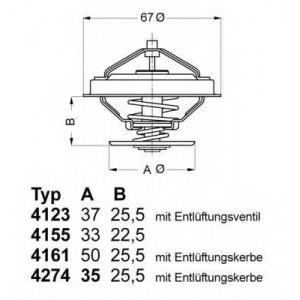 427487d wahler Термостат, охлаждающая жидкость AUDI V8 седан 3.6 quattro