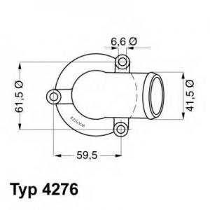 WAHLER 4276.87D Термостат DAEWOO; MERCEDES-BENZ (пр-во Wahler)