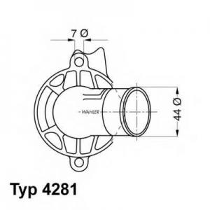 WAHLER 4281.87D Термостат