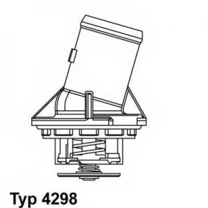 Термостат, охлаждающая жидкость 429887d wahler - MERCEDES-BENZ C-CLASS (W203) седан C 32 AMG Kompressor (203.065)