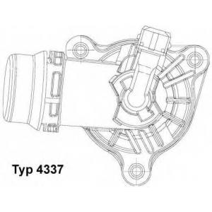 Термостат, охлаждающая жидкость 4337105d wahler - BMW (BRILLIANCE) X1 (E84) Наклонная задняя часть sDrive18i