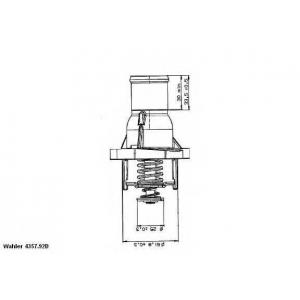 Термостат, охлаждающая жидкость 435792d wahler - OPEL ZAFIRA B Van фургон 1.6 CNG Turbo