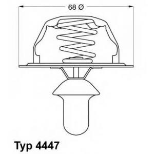 Термостат, охлаждающая жидкость 444780d wahler - CITRO?N XM (Y3) Наклонная задняя часть 2.1 TD 12V