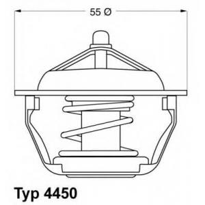 Термостат, охлаждающая жидкость 445083d wahler - PEUGEOT 306 Наклонная задняя часть (7A, 7C, N3, N5) Наклонная задняя часть 1.9 DT
