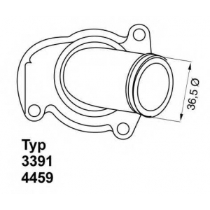 WAHLER 4459.92D Термостат Opel Astra G Combo Corsa B Corsa Meriva Tigra