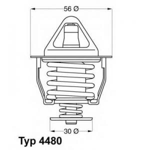 Термостат, охлаждающая жидкость 448082d wahler - TOYOTA CAMRY (_V2_) седан 2.5 V6 GXI (VZV21_)
