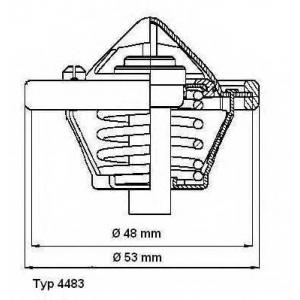 448382d wahler Термостат, охлаждающая жидкость FORD C-MAX вэн 1.6 Ti
