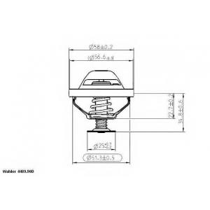 ���������, ����������� �������� 448990d wahler - VOLVO S40 II (MS) ����� 2.4
