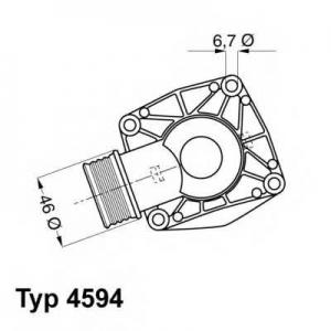 Термостат, охлаждающая жидкость 459490d wahler - BMW 7 (E38) седан 750 i,iL