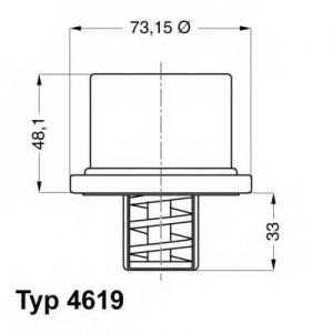 Термостат, охлаждающая жидкость 461986 wahler - IVECO EuroTech MH  190 E 24, 190 E 24 /P