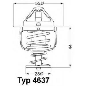 Термостат, охлаждающая жидкость 463782d wahler - MITSUBISHI LANCER IV (C6_A, C7_A) Наклонная задняя часть 1.8 GTi 16V (C69A)