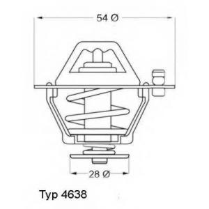 Термостат, охлаждающая жидкость 463876d wahler - MITSUBISHI PAJERO I Canvas Top (L04_G) Вездеход открытый 2.5 TD (L044G, L049G)