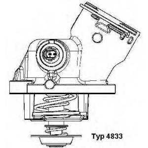 WAHLER 4833.100D Термостат MB M272 M273
