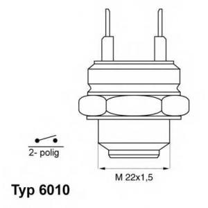 WAHLER 601092D Термовыключатель, вентилятор радиатора