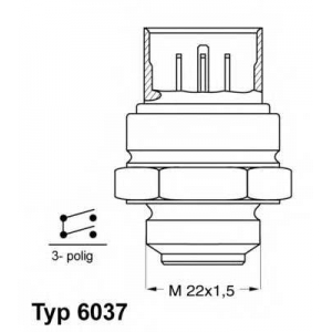 ����������������, ���������� ��������� 603795d wahler - VW POLO (86C, 80) ��������� ������ ����� 1.4 D