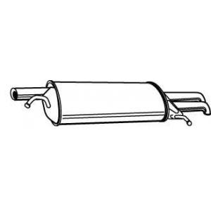 WALKER 22070 Глушитель выхлопных газов конечный