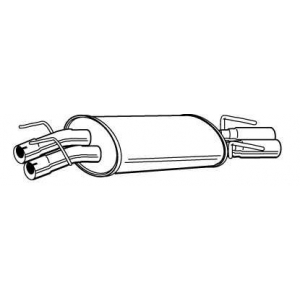 WALKER 22578 Глушитель выхлопных газов конечный