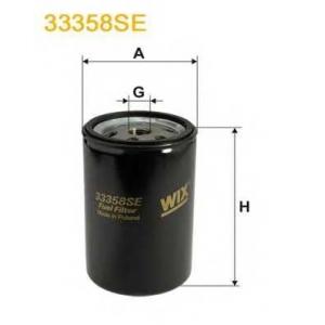 WIX FILTERS 33358SE Фильтр топл. MAN (TRUCK) 33358SE/PP845/2 (пр-во WIX-Filtron)