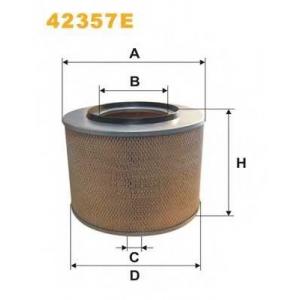 WIX FILTERS 42357E Фильтр воздушный MB MK,SK (TRUCK) 42357E/AM440 (пр-во WIX-Filtron)