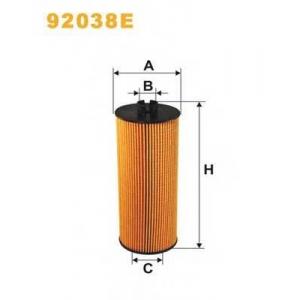 WIX FILTERS 92038E Фильтр масляный MB ATEGO 92038E/OE651/2 (пр-во WIX-Filtron)