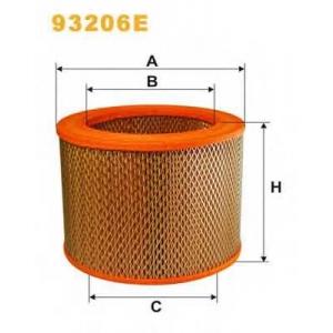 Воздушный фильтр 93206e wix -