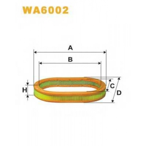 WIX FILTERS WA6002 Фильтр воздушный WA6002/AE220 (пр-во WIX-Filtron)