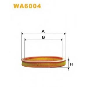 WIX FILTERS WA6004 Фильтр воздушный FORD ESCORT WA6004/AE251 (пр-во WIX-Filtron)