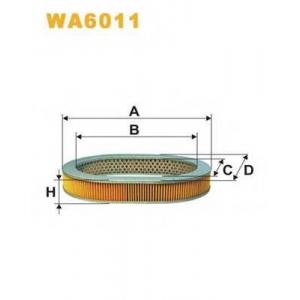 WIX FILTERS WA6011 Фильтр воздушный WA6011/320 (пр-во WIX-Filtron)