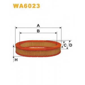 WIX FILTERS WA6023 Фильтр воздушный WA6023/AE344 (пр-во WIX-Filtron)