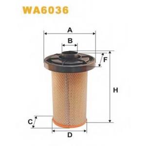 WIX FILTERS WA6036 Фильтр воздушный WA6036/AK280 (пр-во WIX-Filtron)