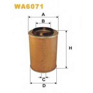 WIX FILTERS WA6071 Фильтр воздушный MB WA6071/AM407 (пр-во WIX-Filtron)