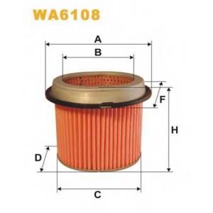 Воздушный фильтр wa6108 wix - MITSUBISHI COLT II (C1_A) Наклонная задняя часть 1.6 Turbo ECi (C13A)