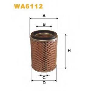 WIX FILTERS WA6112 Фильтр воздушный WA6112/AM436/1 (пр-во WIX-Filtron)