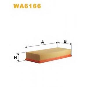 WIX WA6166 Фильтр воздушный AUDI, VW WA6166/AP004 (пр-во WIX-Filtron UA)