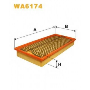 wa6174 wix Воздушный фильтр MERCEDES-BENZ 190 седан D 2.5 (201.126)
